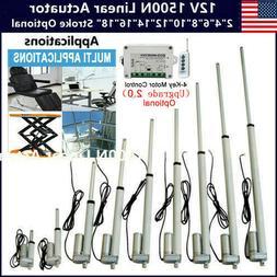 Various Stroke Length 1500N 12V Electric Motor Linear Actuat