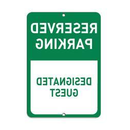 Vertical Metal Sign Multiple Sizes Reserved Parking Designat