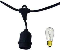 String Light Company Vintage 48-Ft Outdoor Commercial String