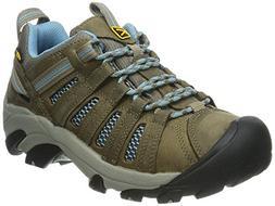 KEEN Women's Voyageur Hiking Shoe, Brindle/Alaskan Blue, 7 M