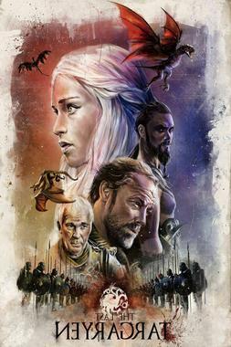 W502 Game of Thrones Season 5 TV Series Art Silk 12x8 40x27i