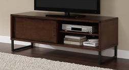 walnut flat tv stand media