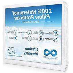 Everlasting Comfort 100% Waterproof Pillow Protector, Hypoal