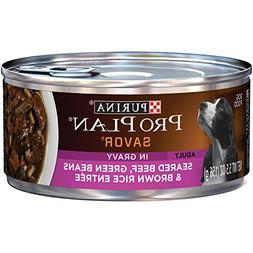 Purina Pro Plan Wet Dog Food, Savor, Adult Seared Beef, Gree