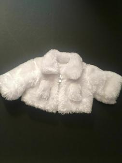 White Fur Coat for American Girl Dolls 18 Inch Doll Clothes