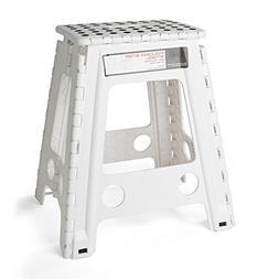 Acko White 18 Inches Non Slip Folding Step Stool for Kids an