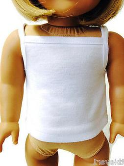 White Tank Top Shirt made for 18 inch American Girl Doll Clo