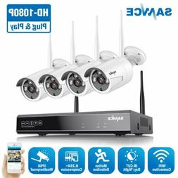 SANNCE Full 1080P Wireless Security System 8CH NVR Outdoor 2
