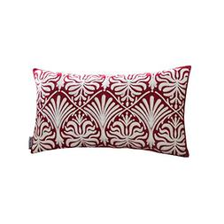 HWY 50 Wine Red Throw Pillow Covers For Couch/Bed 12 x 20 in