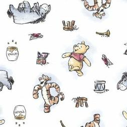 Winnie The Pooh Fabric Disney Eeyore Tigger  Fabric cotton 1