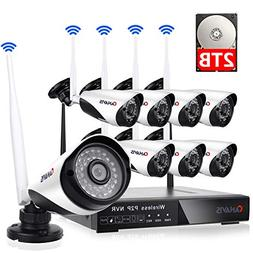 8 Channel Wireless Security Camera System NVR Video Surveill