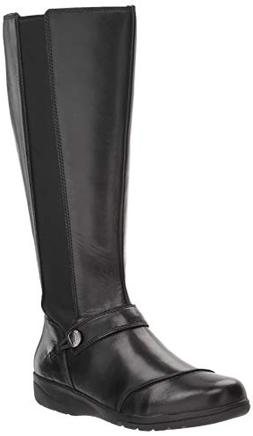 Clarks Women's Cheyn Meryl WS Fashion Boot, Black Leather, 8