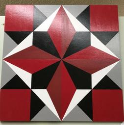 Wooden Barn Quilt 18 Inch Patchwork - Directors Choice