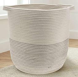 "Extra Large Woven Storage Baskets | 18"" x 16"" Decorative Bla"