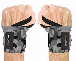 """Rip Toned Wrist Wraps 18"""" Professional Grade with Thumb Loop"""