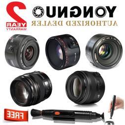 Yongnuo YN 35mm 50mm 85mm 100mm 50mm II AF MF Prime Fixed Le