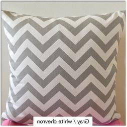 ZigZag Storm Twill Pillow Cover, Gray Chevron Pillowcase, Lu